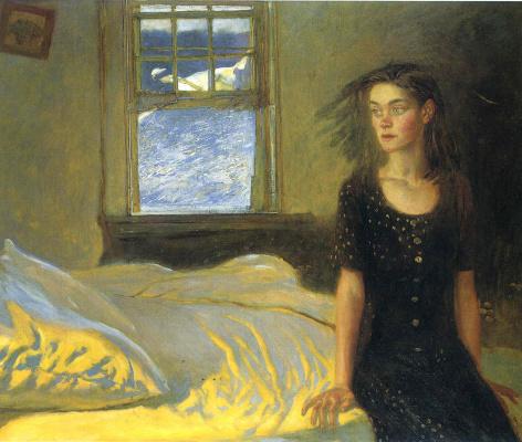 Jamie Wyeth. If once you slept on the island