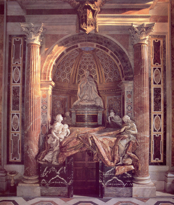 Gian Lorenzo Bernini. Tomb of Pope Alexander VII