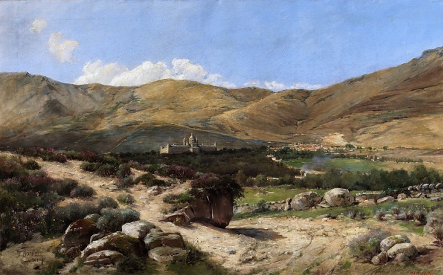 Borrel Felix Vidal. Landscape with the Escorial