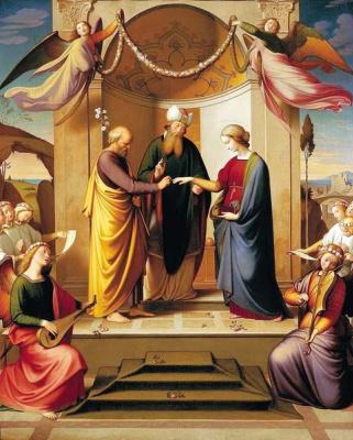 Иоганн Фридрих Овербек. Обручение Марии и Иосифа