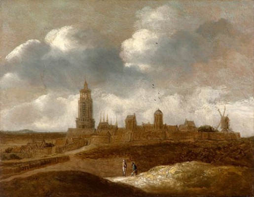 Jan van Goyen. View of a Dutch town