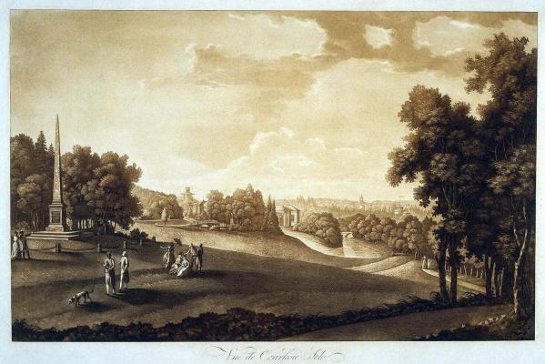 Иоганн Георг де Майр. Вид парка в Царском селе