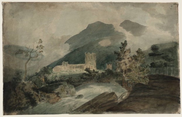 Joseph Mallord William Turner. Abbey, Llanthony from the South