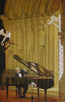 """Дмитрий Дмитриевич Жилинский. """"Играет Святослав Рихтер"""" 1985"""