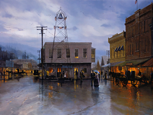 Thomas Kincaid. Placerville. Main street
