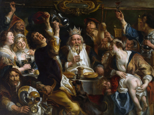 Jacob Jordaens. The king is drinking
