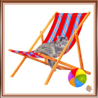 Джон Мартинес. Спящий кот в кресле