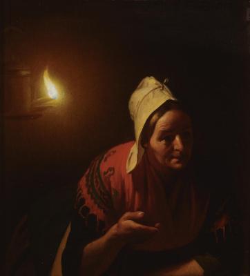 Petrus van Shendel. Conversation by candlelight.