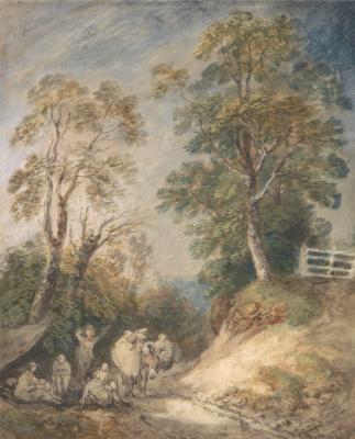 Thomas Gainsborough. Gypsies in a country lane