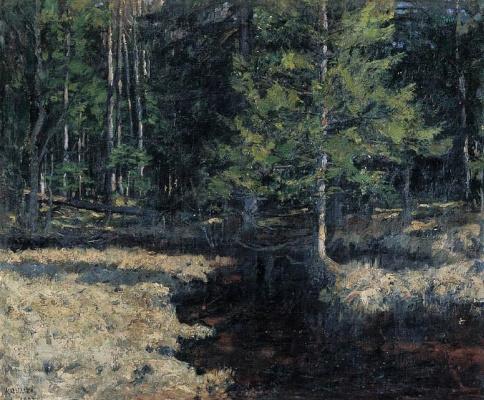 Stanislav Yulianovich Zhukovsky. In the woods
