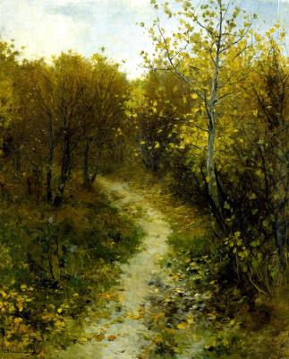 Sergey Ivanovich Svetoslavsky. Autumn. Corner Kirillovskoy manor. 1900s