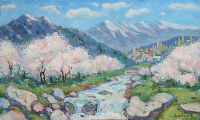 Oksana Viktorovna Zalevskaya. Spring in the mountains