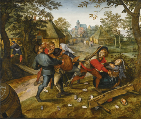 Peter Brueghel The Younger. Peasant fight