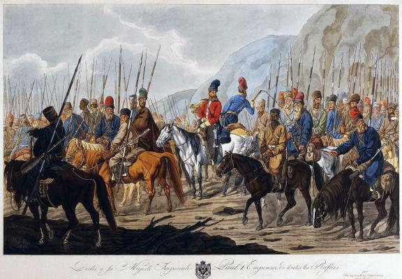 Карл Эрнст Гесс. Русские казаки в походе