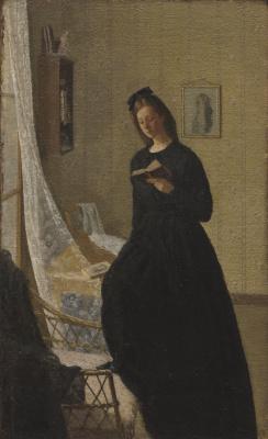 Гвен Джон. Женщина читает у окна