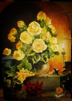 Inna Fleisher. Yellow roses