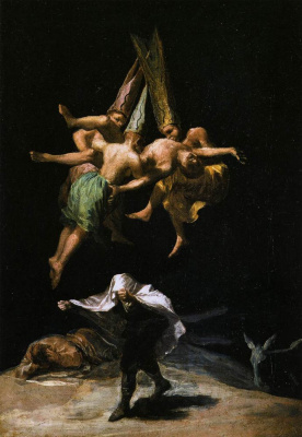 Francisco Goya. Flight of the witches
