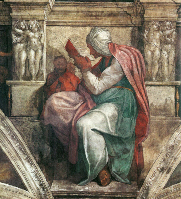 Michelangelo Buonarroti. The Persian sibyl. The frescoes of the Sistine chapel