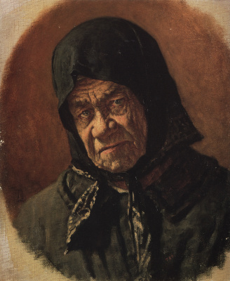 Vasily Vasilyevich Vereshchagin. The old beggar ninety six years