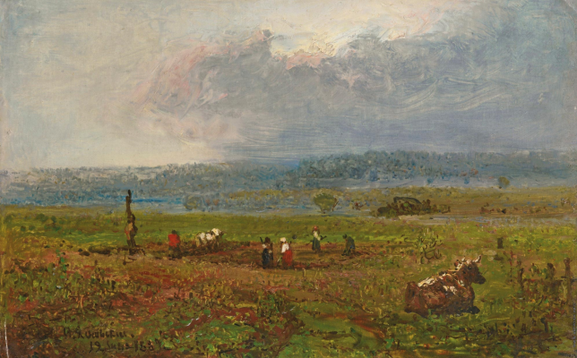 Fedor Ivanovich Yasnovsky. Landscape. Private collection