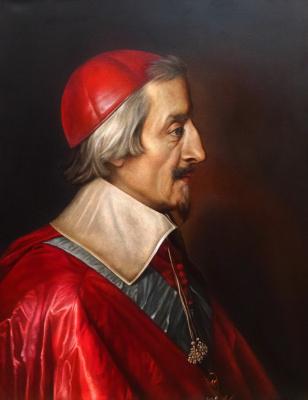 "Julia Sergeevna Evtushenko. Copy of the picture ""Portrait of Cardinal Richelieu"", 2018 (original is thin. Philippe de Champagne, 1642)"