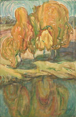 Alexandrovich Rudolf Pavlov. Autumn landscape №3. 1971