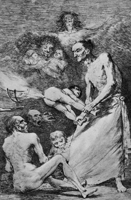 "Francisco Goya. A series of ""Caprichos"", page 69: Er"
