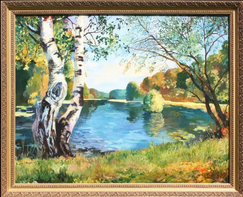 Андрей Богданов. Пейзаж с озером
