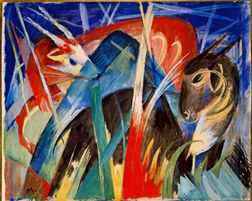 Franz Marc. Mythical animals