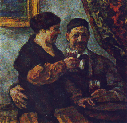 Petr Petrovich Konchalovsky. Self-portrait with wife