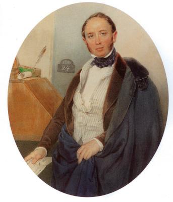 Peter Fedorovich Sokolov. Baron Alexander Ludvigovich Stieglitz 1847