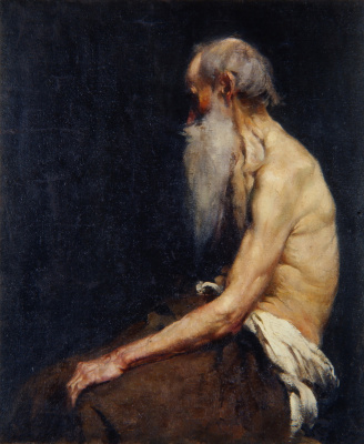Anton Azhbe. Sitting old man with a beard