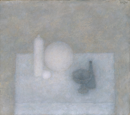 Vladimir Grigorievich Weisberg. Still life with two gray vases and a white bottle