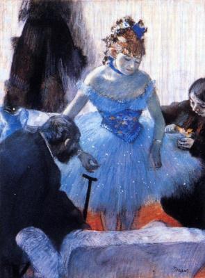 Edgar Degas. The locker room ballerinas