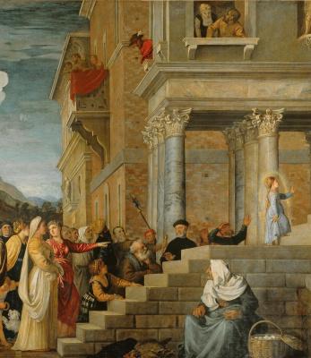 Тициан Вечеллио. Введение Марии во храм. Фрагмент 5