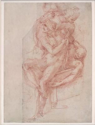 """Микеланджело Буонарроти. Рисунок для """"Воскрешения Лазаря"""""""