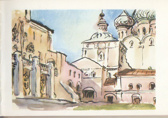 Emmanuel Bentsionovich Bernstein. View from the Archbishop's courtyard of the St. Sophia Cathedral