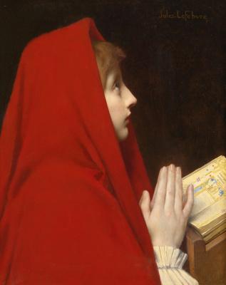 Jules Joseph Lefebvre. Red scarf.