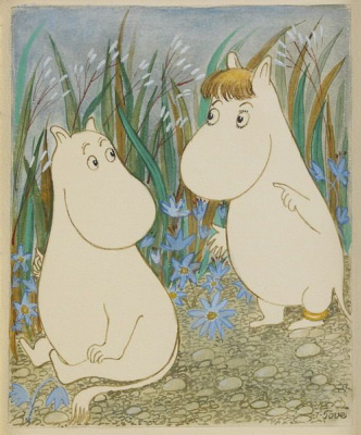 Tove Jansson. Moomin characters among the bells