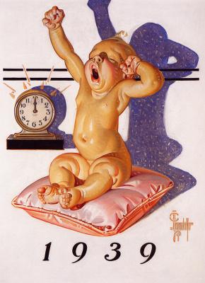 Joseph Christian Leyendecker. New year's baby