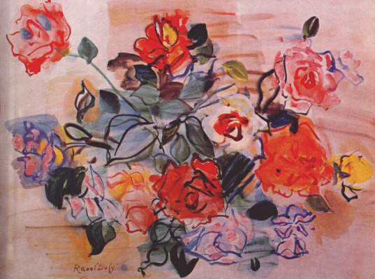 Raoul Dufy. A bouquet of roses