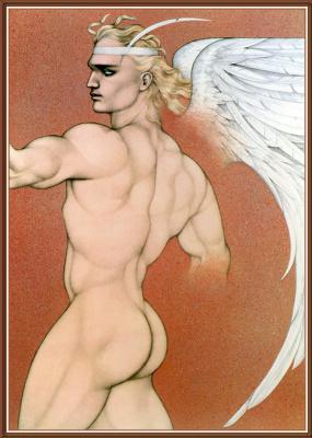 Мелл Одом. Обнаженный блондин