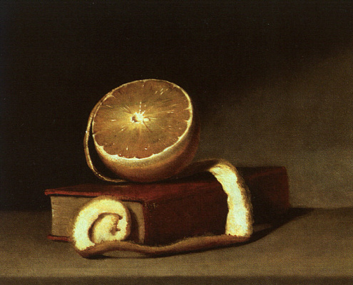 Raphaelle Peale. Still life with lemon