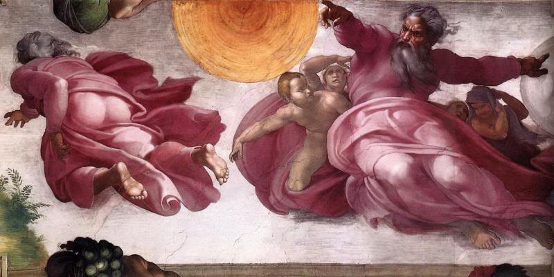 Микеланджело Буонарроти. Сотворение светил и планет