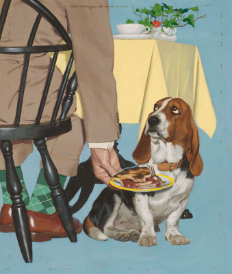 Richard Sargent. Bassett and pie