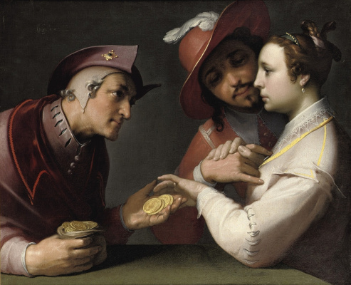 Cornelis van Haarlem. The choice between young and old
