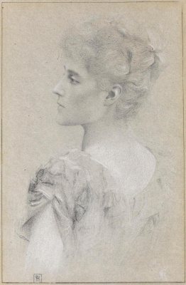 Fernand Knopf. Portrait of Ethel Strickland