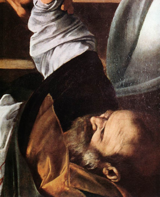 Michelangelo Merisi de Caravaggio. The martyrdom of St. Matthew. Fragment