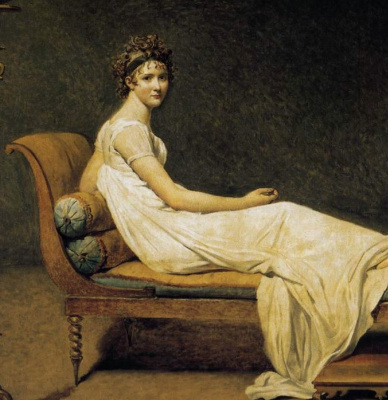 Jacques-Louis David. Portrait of Madame Récamier. Fragment