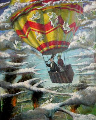 Sergey Viktorovich Solomatin. Hot air balloon rabbits